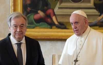POPE TO TAKE COVID CONCERNS TO GLOBAL STAGE AT U.N.