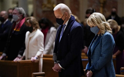 BISHOPS MAY PRESS BIDEN TO STOP TAKING COMMUNION